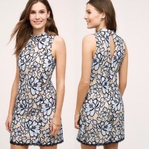 Plenty by Tracy Reese (Anthro) Blue Lace Dress